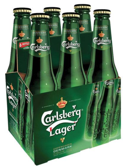 Carlsberg Lager 6 x 4 x 330 ml Bottles (Ib)