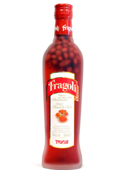 Fragoli Liqueur With Whole Strawberries