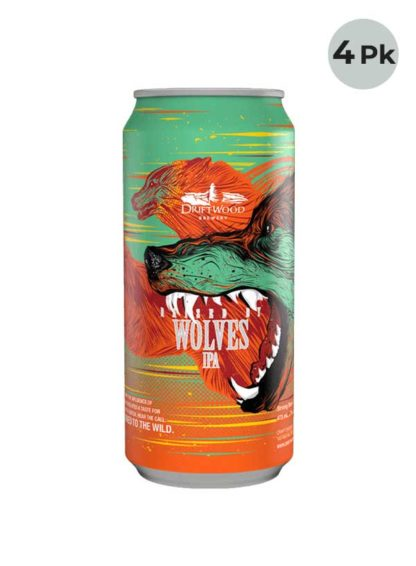 Driftwood Raised by Wolves IPA - 4 X 473 ml Cans