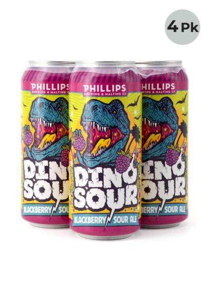 Phillips Dinosour Blackberry Sour - 4 X 473 ml