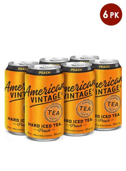 American Vintage iced tea peach 6 cans