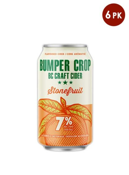 Bumper Crop BC craft cider Stonefruit 6 cans