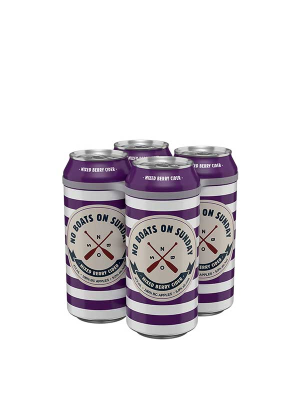 No boats on sunday mixed berry cans - 4 x 473 ml