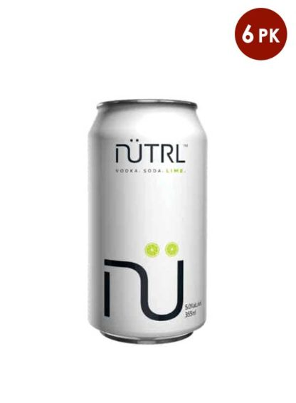 Nutrl Vokda Soda Lime 6 pack cans