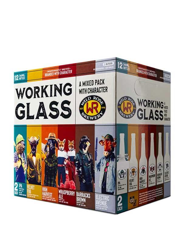 Working Glass Variety pack - 12 x 355 ml (bottles)